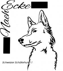 Aufkleber Schweizer Schäferhund 1