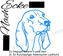 Aufkleber Segugio Italiano a pelo raso(Kurzhaariger ItalienischerLaufhund)