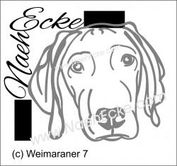 Aufkleber Weimaraner 7