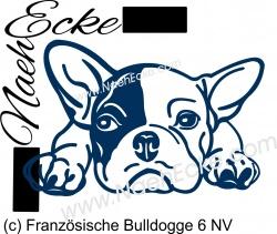 Aufkleber Französische Bulldogge 06