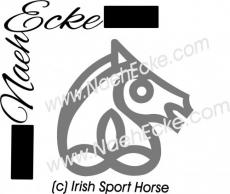 Aufkleber Brandzeichen Irisches Sportpferd