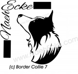 Aufkleber Border Collie 7