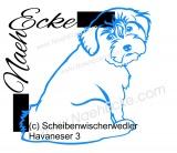 Aufkleber Hunde-Scheibenwischerwedler Havaneser 3