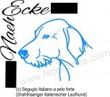 Aufkleber Segugio Italiano a pelo forte (it. für Drahthaariger Italienischer Laufhund)