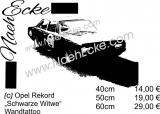 Sticker O P E L Rekord schwarze Witwe / Black Widow