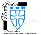Aufkleber Brandzeichen Zuchtverband für deutsche Pferde (Zfdp)