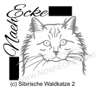 Sticker Siberian Forrest Cat 2