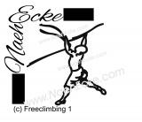 Aufkleber Freeclimbing 1