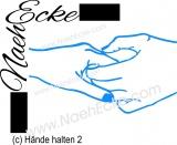 Aufkleber Hände halten 2