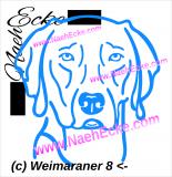 Aufkleber Weimaraner 8