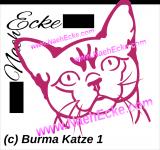Aufkleber Burma Katze / Burmese 1 (copy)