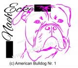 Aufkleber Amerikanische Bulldogge Nr. 1