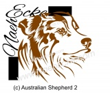 Aufkleber Australian Shepherd Nr. 02