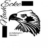 "Sticker eagle head"" 2 bald eagles"