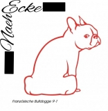 Aufkleber Hunde-Scheibenwischerwedler Französische Bulldogge 9-1