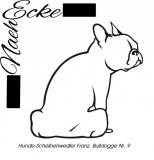 Aufkleber Hunde-Scheibenwischerwedler Französische Bulldogge 9