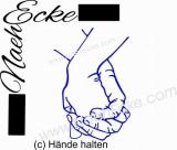Aufkleber Hände halten 1