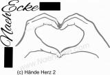 Aufkleber Hände Herz 2