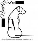 Aufkleber Hunde-Scheibenwischerwedler Rhodesian Ridgeback 5