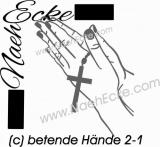 Aufkleber betende Hände 2-1
