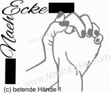 Aufkleber betende Hände 1