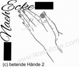 Aufkleber betende Hände 2
